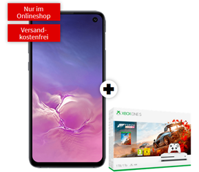 Bild zu Samsung Galaxy S10e + Xbox One S 1TB – Forza Horizon 4 Bundle (einmalig 79€) im Vodafone green LTE Tarif (6GB LTE Datenflat, Allnet-Flat, SMS Flat) für 26,99€/Monat