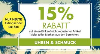 Bild zu Galeria Kaufhof: 15% Rabatt auf Uhren & Schmuck
