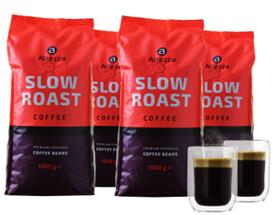 Bild zu Altezza Slow Roast – KAFFEEBOHNEN (4 kg) + 2 doppelwandige Kaffeegläser (130 ML) für 29,99€