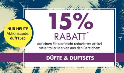 Bild zu Galeria Kaufhof: heute 15% Rabatt auf Düfte & Duftsets