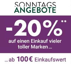 Bild zu Galeria Kaufhof: heute ab 20€ versandkostenfrei + 20% Rabatt ab 100€