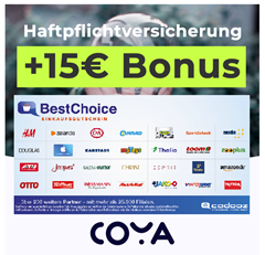 Bild zu rechnerisch bis zu 4 Monate gratis dank 15€ Prämie: Coya Haftpflichtversicherung ab 3,14€/Monat ohne Selbstbeteiligung (täglich kündbar)
