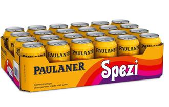 Bild zu bitiba: 48 x 0,33 l Paulaner Spezi (inkl. 12,00 € EINWEG Pfand) für 29,98€ (Neukunden: 28,49€)