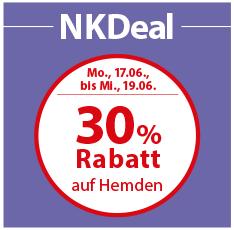 Bild zu NKD: 30% Rabatt auf Hemden