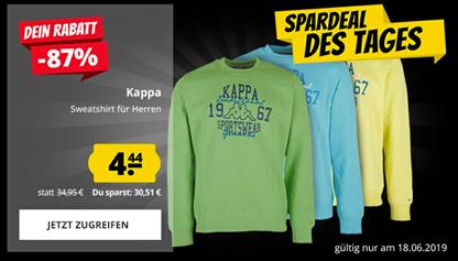 Bild zu Kappa Herren Sweatshirts in verschiedenen Farben für nur 4,44€ zzgl. 3,95€ Versand