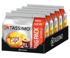 Bild zu 5er Pack TASSIMO Morning Café XL Kapseln (5 x 21) für 19,96€ (Vergleich: 26,94€)