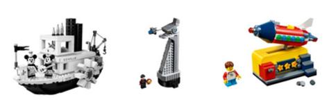 Bild zu LEGO 21317 Steamboat Willie + Avengers Tower + Weltraumrakete für 89,99€ (Vergleich: 150,90€)