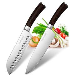 Bild zu homgeek Messerset 2-teilig (Ergonomischer Griff in Echtholzoptik) für 23,99€