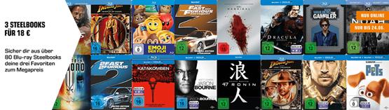 Bild zu Saturn: 3 Blu-ray Steelbooks für 18€ inklusive Versand