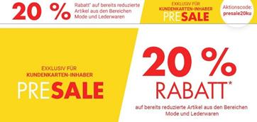 Bild zu Karstadt: 20% Rabatt auf bereits reduzierte Artikel (nur für Kundenkarten-Inhaber)