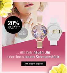 Bild zu Galeria Kaufhof: 20% Rabatt auf Uhren & Schmuck
