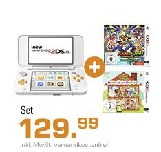 Bild zu Nintendo New Nintendo 2DS XL + Animal Crossing: Happy Home Designer + Mario & Luigi: Super Star Saga für 129,99€ (Vergleich: 158,75€)
