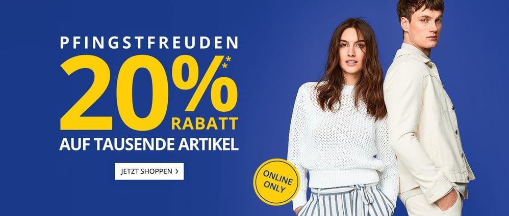 Bild zu Peek & Cloppenburg*:  20% Extra Rabatt auf viele Artikel im Pfingst-Sale