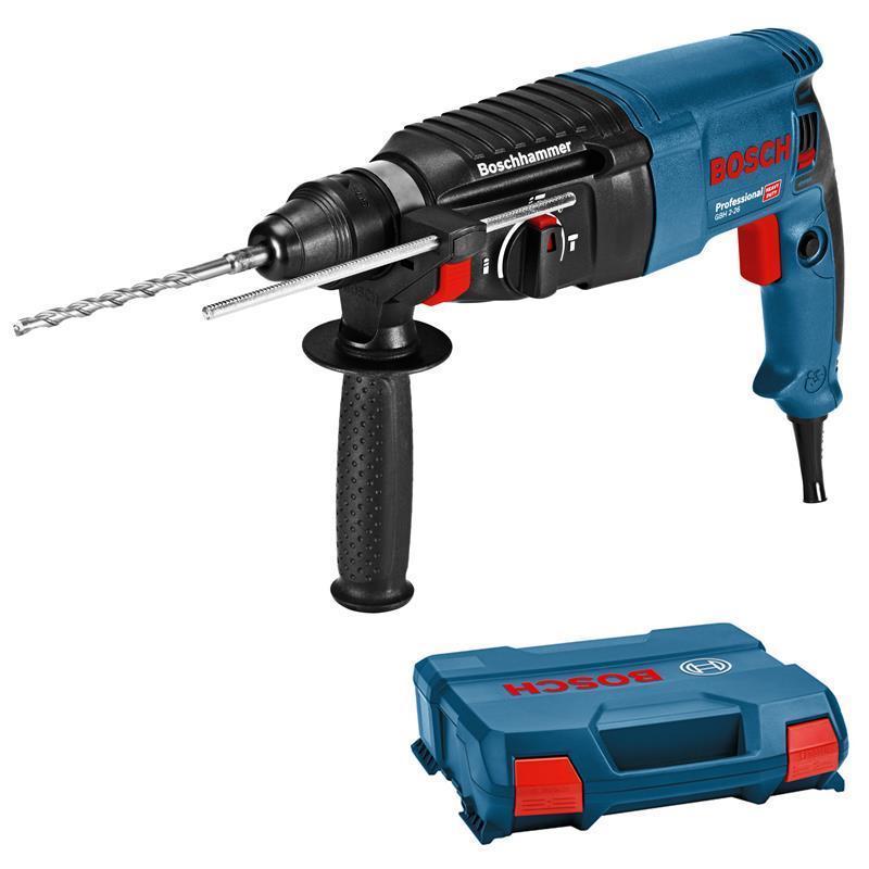 Bild zu Bosch Bohrhammer GBH 2-26 Professional SDS-Plus mit L-Case Koffer für 99,99€ (Vergleich: 117,98€)
