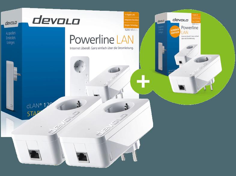 Bild zu Devolo dLAN 1200+ Netzwerk Starter Kit mit 3 Adaptern für 79,99€ (Vergleich: 146€)