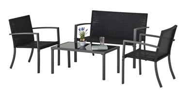 Bild zu Balkonset Badalona (2-sitzigen Sofa, zwei Sesseln + Tisch) für 77,70€