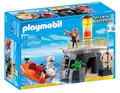 Bild zu Playmobil 5626 Leuchtturm mit Rettungsboot für 23,94€ (Vergleich: 30,88€)