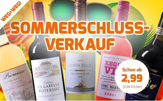 Bild zu Weinvorteil: SSV mit Weinen bereits ab 2,99€ pro Flasche + 10% Extra Rabatt (ab 30€ MBW)