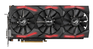 Bild zu ASUS Radeon™ RX Vega 64 ROG Strix OC 8GB (90YV0B00-M0NM00) (AMD, Grafikkarte) für 317,26€ (Vergleich: 379€)