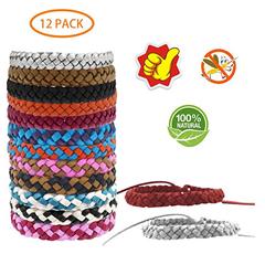 Bild zu 12er Pack LEBEXY Mückenschutz Armband (auch für Kinder geeignet) für 4,01€