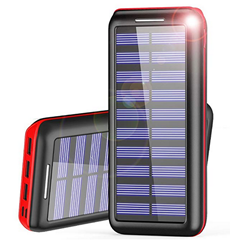 Bild zu AKEEM Solar Powerbank 24000mAh mit 3 USB-Ports für 23,09€