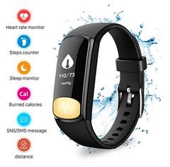 Bild zu Uten Aktivitätstracker (IP67 Wasserdicht, Schrittzähler, Kalorienzähler, Schlafüberwachung, usw.) für 9,99€
