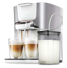 Bild zu PHILIPS Senseo Latte Duo Plus HD6574/20 Kaffeepadmaschine für 111€ (Vergleich: 179,90€)