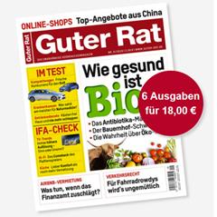 """Bild zu 6 Ausgaben der Zeitschrift """"Guter Rat"""" für 18€ + 15€ Verrechnungscheck als Prämie – Kündigung notwendig"""