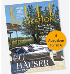 """Bild zu 5 Ausgaben """"Elle Decoration"""" zum Preis von 26 € + 25 € Prämie zur Wahl"""