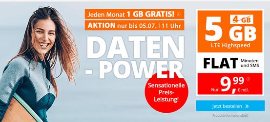 Bild zu Sim.de: o2-Netz mit 5GB LTE Datenflat, SMS und Sprachflat für 9,99€/Monat – optional monatlich kündbar