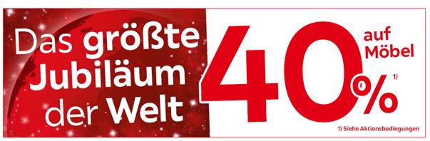 Bild zu [Top] XXXLutz: 40% Rabatt auf alle Kategorien+ kostenloser Versand ab 300€