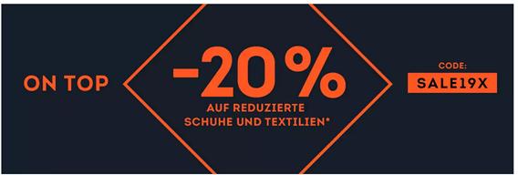 Bild zu [nur noch heute] SportScheck: 20% Extra Rabatt auf Schuhe & Kleidung