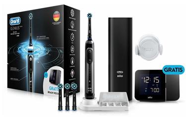 Bild zu Braun Oral-B Genius 10000 elektrische Zahnbürste Black Edition mit Reisewecker für effektiv 81,51€ – bisheriger Bestpreis 119€