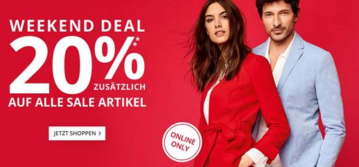 Bild zu [Super] Peek & Cloppenburg*: 20% Extra-Rabatt auf alle Sale Artikel + kostenloser Versand + kostenloser Rückversand