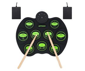Bild zu ammoon E-Drum Elektronisches Schlagzeug Kit mit 9 Pads für 29,49€