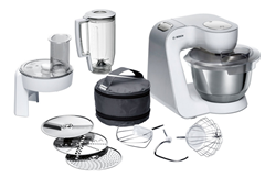 Bild zu Bosch CreationLine MUM58W20 Küchenmaschine mit Durchlaufschnitzler und Mixer-Aufsatz – 1.000 Watt für 199,99€ (VG: 235,82€)