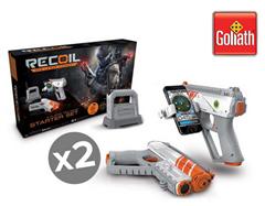 Bild zu 2x Goliath Recoil GPS Laser Combat Starter Set für 45,90€ (Vergleich: 63,47€)