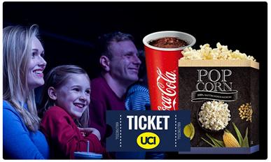 Bild zu UCI Kinogutschein inkl. Popcorn und Softdrink für Kinder oder Erwachsene ab 7,77€