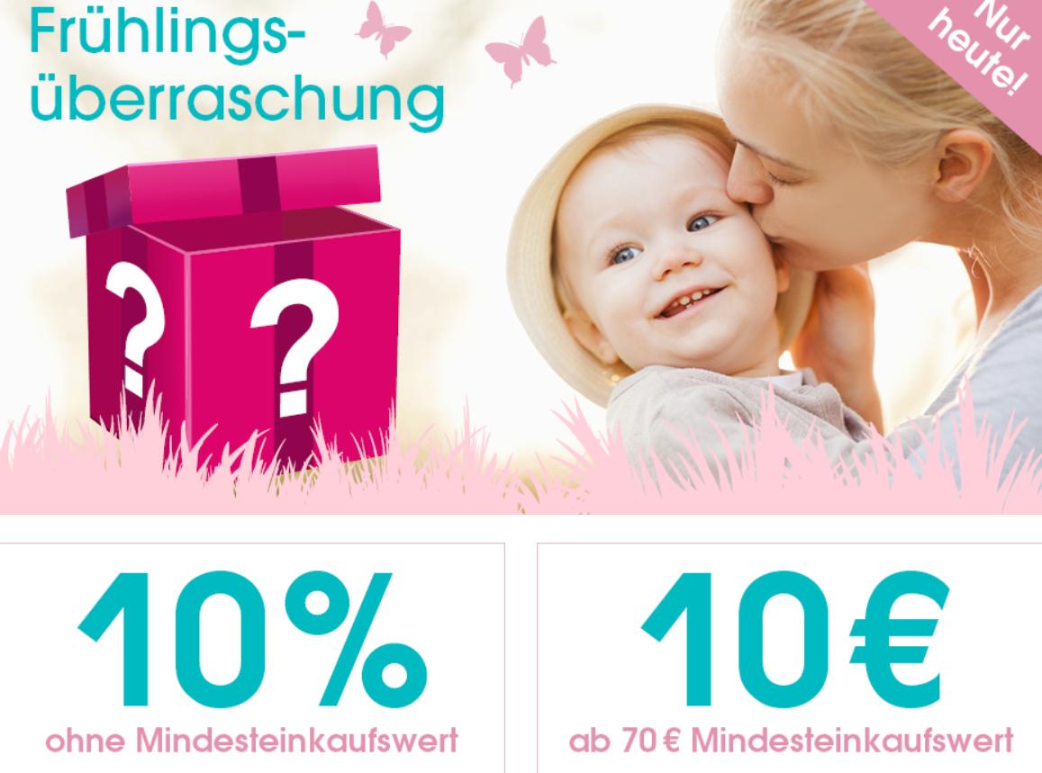 Bild zu babymarkt: 10% Rabatt (ohne MBW) oder 10€ Rabatt (ab 70€ MBW)