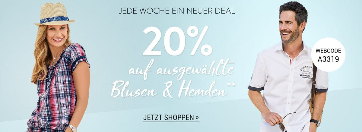 Bild zu Adler Mode: 20% Rabatt auf ausgewählte Blusen und Hemden
