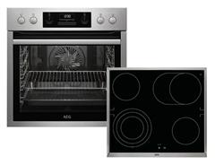Bild zu AEG HB3013MS31 Einbauherd-Set mit Glaskeramik-Kochfeld für 628€ (Vergleich: 918,99€)