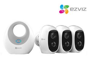 Bild zu Ezviz C3A WLAN IP-Überwachungskamera-Set mit 3 Kameras und W2D Basisstation für 305,90€ (Vergleich: 461,07€)