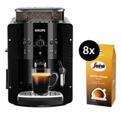 Bild zu Krups EA8108 Kaffeevollautomat + 8x 1kg Segafredo Caffe Crema für 229,50€ (Vergleich: 343€)