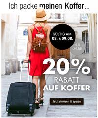 Bild zu Galeria Kaufhof: 20% Rabatt auf Koffer