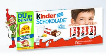 Bild zu Kinder Schokolade Aktionspackung kaufen + gratis personalisiertes Pixi Buch erhalten