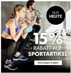 Bild zu Galeria Kaufhof Dienstagsangebot: 15% Rabatt auf Sportartikel
