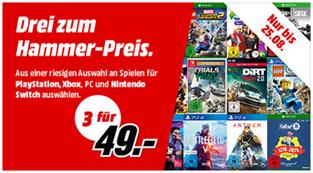 Bild zu MediaMarkt: 3 Games (PS4, Xbox, Nintendo oder PC) für 49€