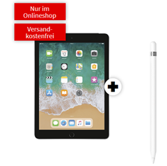 Bild zu [Super] APPLE iPad 2018 (Wifi + LTE) & Apple Pencil für 99€ mit 10GB LTE Datenflat im Telekomnetz für 14,99€/Monat