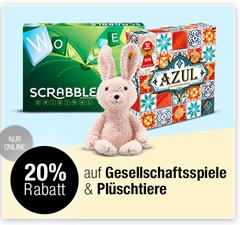 Bild zu Galeria Kaufhof: 20% Rabatt auf Gesellschaftsspiele & Plüschtiere