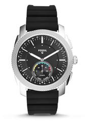 Bild zu Fossil Q Smartwatch Machine mit schwarzem Silikon-Armband für 70,39€ (Vergleich: 93,80€)